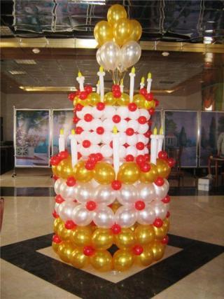 דוגמה:עוגה עיצוב בלונים יום הולדת